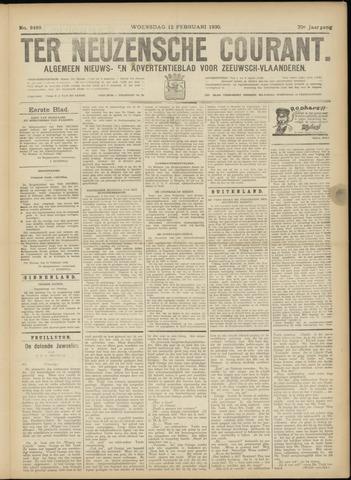 Ter Neuzensche Courant. Algemeen Nieuws- en Advertentieblad voor Zeeuwsch-Vlaanderen / Neuzensche Courant ... (idem) / (Algemeen) nieuws en advertentieblad voor Zeeuwsch-Vlaanderen 1930-02-12