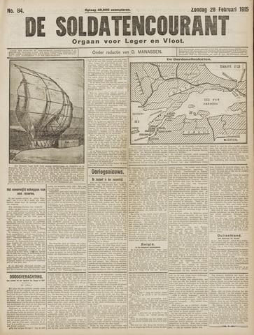 De Soldatencourant. Orgaan voor Leger en Vloot 1915-02-28