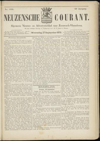 Ter Neuzensche Courant. Algemeen Nieuws- en Advertentieblad voor Zeeuwsch-Vlaanderen / Neuzensche Courant ... (idem) / (Algemeen) nieuws en advertentieblad voor Zeeuwsch-Vlaanderen 1876-09-27