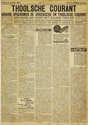 Ierseksche en Thoolsche Courant 1934