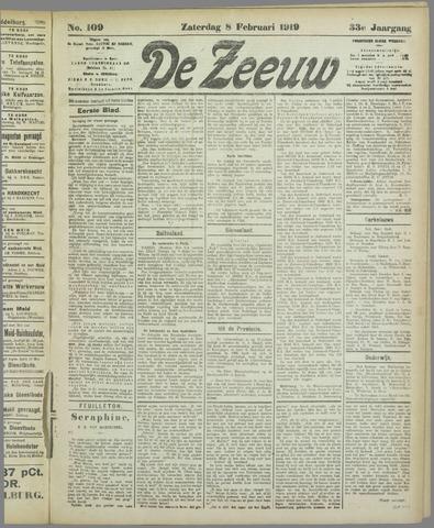 De Zeeuw. Christelijk-historisch nieuwsblad voor Zeeland 1919-02-08