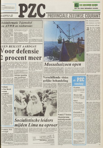 Provinciale Zeeuwse Courant 1986-06-21