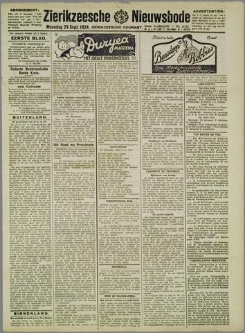 Zierikzeesche Nieuwsbode 1924-09-29