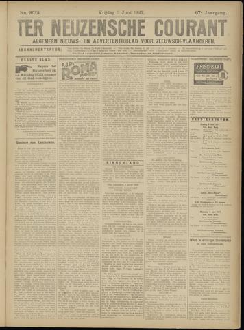 Ter Neuzensche Courant. Algemeen Nieuws- en Advertentieblad voor Zeeuwsch-Vlaanderen / Neuzensche Courant ... (idem) / (Algemeen) nieuws en advertentieblad voor Zeeuwsch-Vlaanderen 1927-06-03