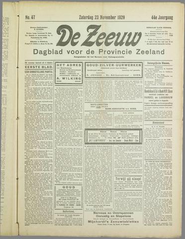 De Zeeuw. Christelijk-historisch nieuwsblad voor Zeeland 1929-11-23