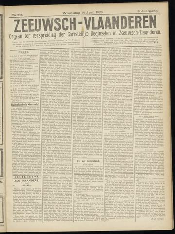 Luctor et Emergo. Antirevolutionair nieuws- en advertentieblad voor Zeeland / Zeeuwsch-Vlaanderen. Orgaan ter verspreiding van de christelijke beginselen in Zeeuwsch-Vlaanderen 1920-04-14