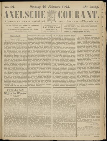 Axelsche Courant 1923-02-20