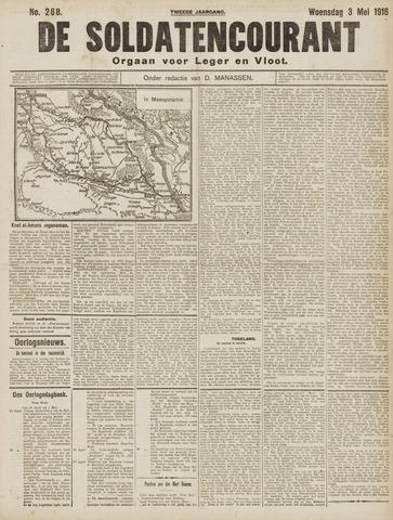 De Soldatencourant. Orgaan voor Leger en Vloot 1916-05-03