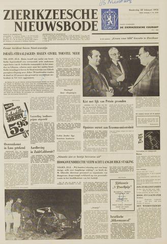 Zierikzeesche Nieuwsbode 1973-02-22