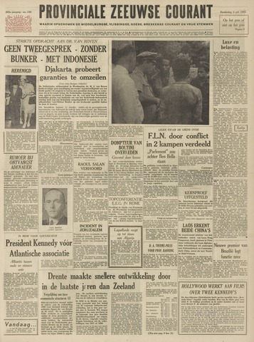 Provinciale Zeeuwse Courant 1962-07-05