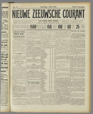 Nieuwe Zeeuwsche Courant 1914-07-04
