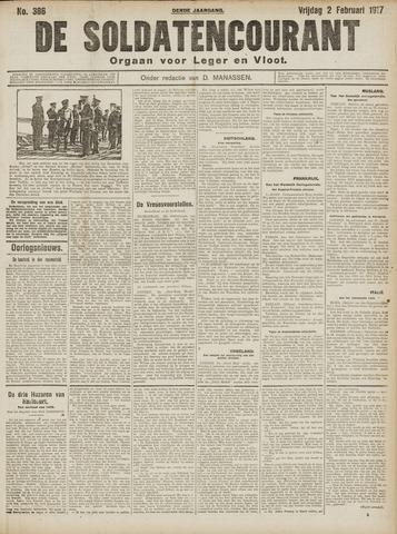 De Soldatencourant. Orgaan voor Leger en Vloot 1917-02-02