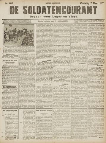 De Soldatencourant. Orgaan voor Leger en Vloot 1917-03-07
