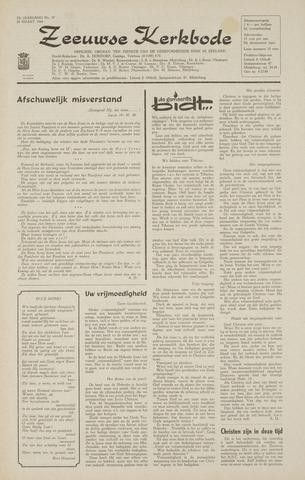 Zeeuwsche kerkbode, weekblad gewijd aan de belangen der gereformeerde kerken/ Zeeuwsch kerkblad 1968-03-28