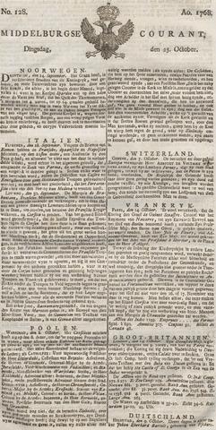 Middelburgsche Courant 1768-10-25