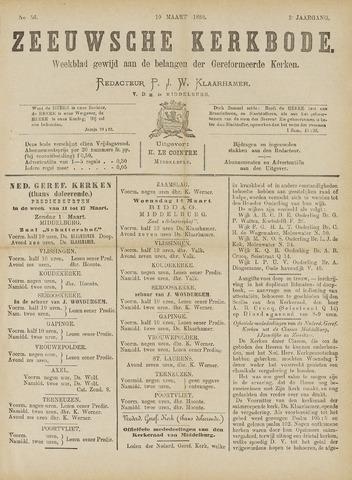 Zeeuwsche kerkbode, weekblad gewijd aan de belangen der gereformeerde kerken/ Zeeuwsch kerkblad 1888-03-10