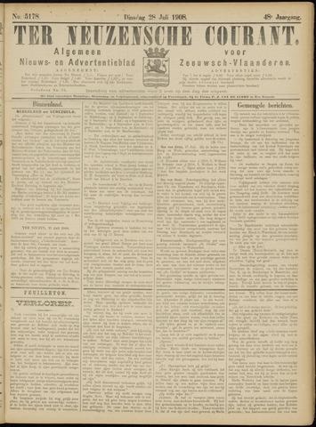 Ter Neuzensche Courant. Algemeen Nieuws- en Advertentieblad voor Zeeuwsch-Vlaanderen / Neuzensche Courant ... (idem) / (Algemeen) nieuws en advertentieblad voor Zeeuwsch-Vlaanderen 1908-07-28