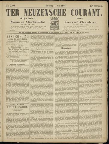Ter Neuzensche Courant. Algemeen Nieuws- en Advertentieblad voor Zeeuwsch-Vlaanderen / Neuzensche Courant ... (idem) / (Algemeen) nieuws en advertentieblad voor Zeeuwsch-Vlaanderen 1887-05-07
