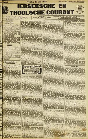 Ierseksche en Thoolsche Courant 1925-07-10