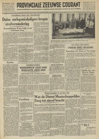 Provinciale Zeeuwse Courant 1951-02-01