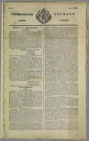 Zierikzeesche Courant 1845