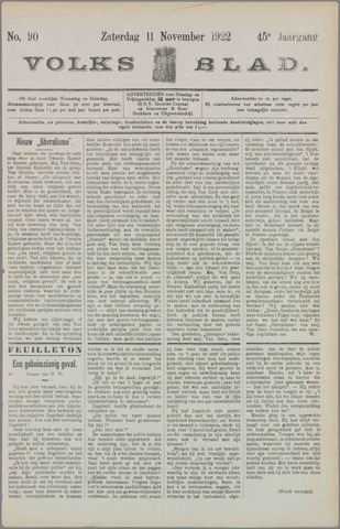 Volksblad 1922-11-11