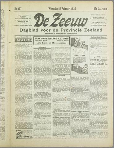 De Zeeuw. Christelijk-historisch nieuwsblad voor Zeeland 1930-02-05