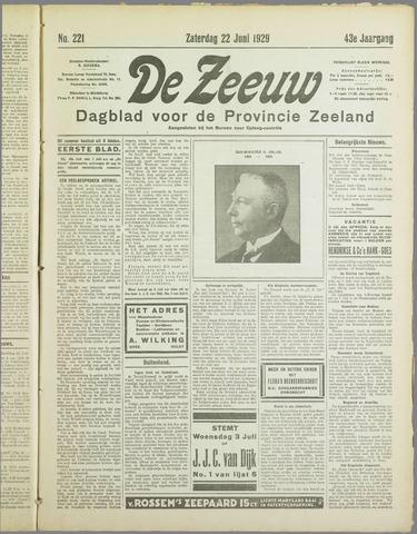 De Zeeuw. Christelijk-historisch nieuwsblad voor Zeeland 1929-06-22
