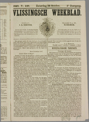 Vlissings Weekblad 1867-10-26