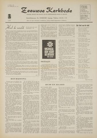 Zeeuwsche kerkbode, weekblad gewijd aan de belangen der gereformeerde kerken/ Zeeuwsch kerkblad 1970-04-30