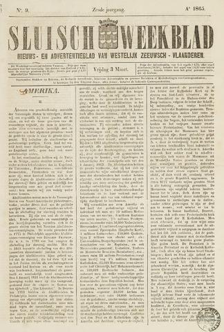 Sluisch Weekblad. Nieuws- en advertentieblad voor Westelijk Zeeuwsch-Vlaanderen 1865-03-03