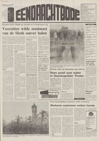 Eendrachtbode (1945-heden)/Mededeelingenblad voor het eiland Tholen (1944/45) 1989-04-27