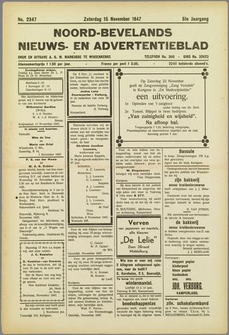 Noord-Bevelands Nieuws- en advertentieblad 1947-11-15