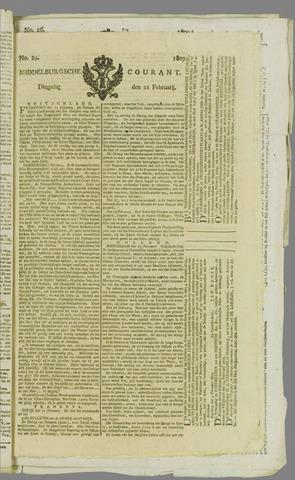 Middelburgsche Courant 1809-02-21