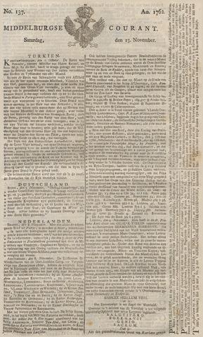 Middelburgsche Courant 1762-11-13