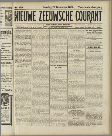 Nieuwe Zeeuwsche Courant 1918-12-17