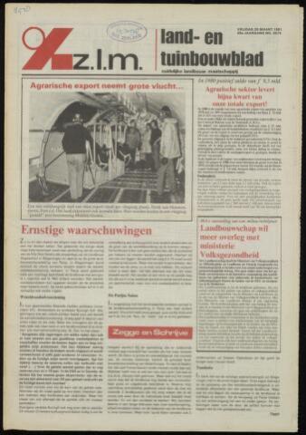 Zeeuwsch landbouwblad ... ZLM land- en tuinbouwblad 1981-03-20