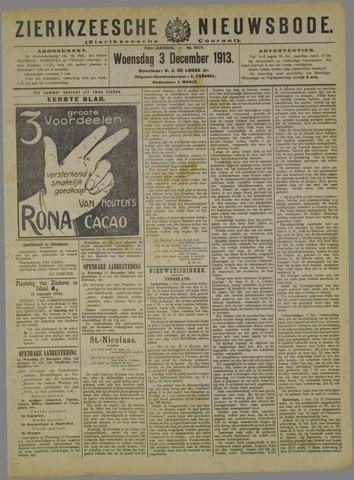 Zierikzeesche Nieuwsbode 1913-12-03
