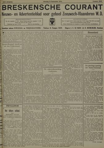 Breskensche Courant 1934-09-18