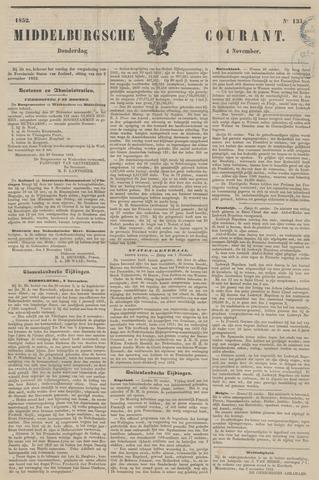 Middelburgsche Courant 1852-11-04