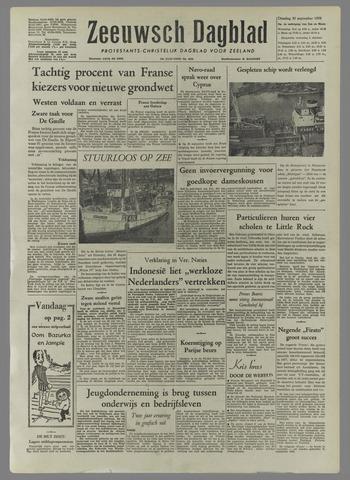 Zeeuwsch Dagblad 1958-09-30