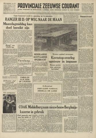 Provinciale Zeeuwse Courant 1962-01-27