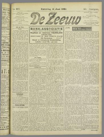 De Zeeuw. Christelijk-historisch nieuwsblad voor Zeeland 1921-06-11