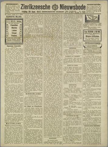 Zierikzeesche Nieuwsbode 1922-09-29