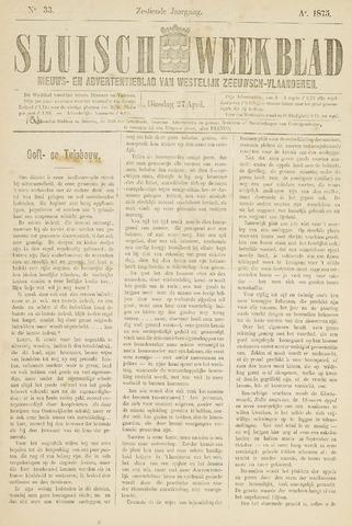 Sluisch Weekblad. Nieuws- en advertentieblad voor Westelijk Zeeuwsch-Vlaanderen 1875-04-27