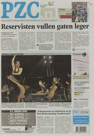 Provinciale Zeeuwse Courant 2008-08-30