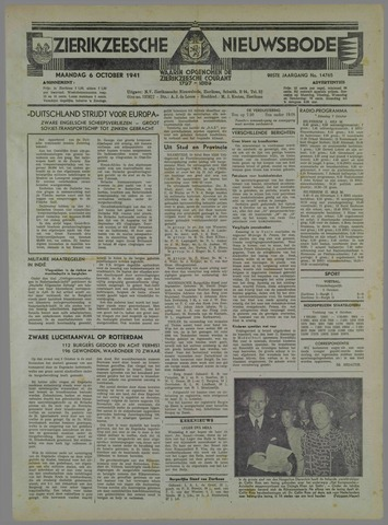 Zierikzeesche Nieuwsbode 1941-10-02