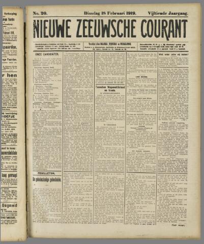 Nieuwe Zeeuwsche Courant 1919-02-18