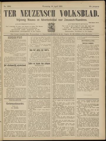 Ter Neuzensch Volksblad. Vrijzinnig nieuws- en advertentieblad voor Zeeuwsch- Vlaanderen / Zeeuwsch Nieuwsblad. Nieuws- en advertentieblad voor Zeeland 1912-04-24