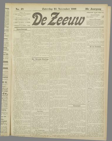 De Zeeuw. Christelijk-historisch nieuwsblad voor Zeeland 1916-11-25